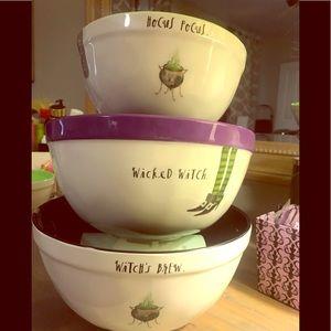 Set of 3 new Rae Dunn halloween bowls